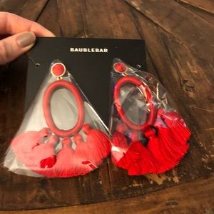 Red baublebar earrings NWT